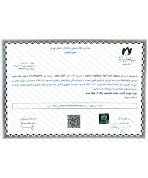 The license of the organization of the computer system of the province of Tehran
